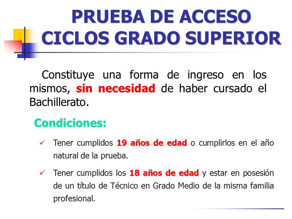 PRUEBA DE ACCESO CICLOS GRADO SUPERIOR