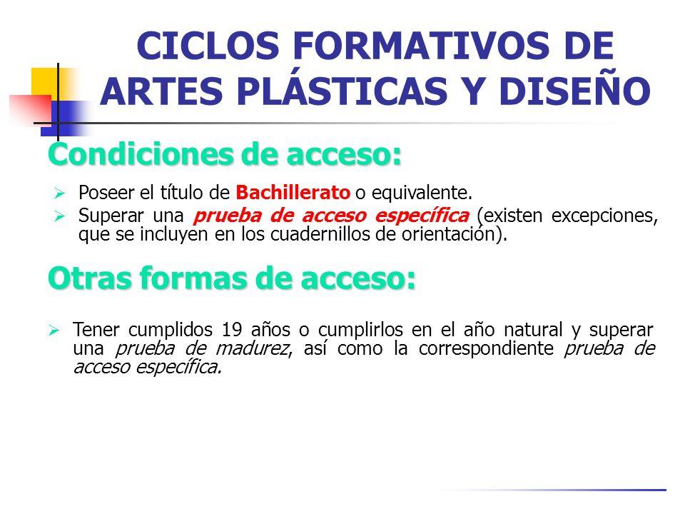 CICLOS FORMATIVOS DE ARTES PLÁSTICAS Y DISEÑO