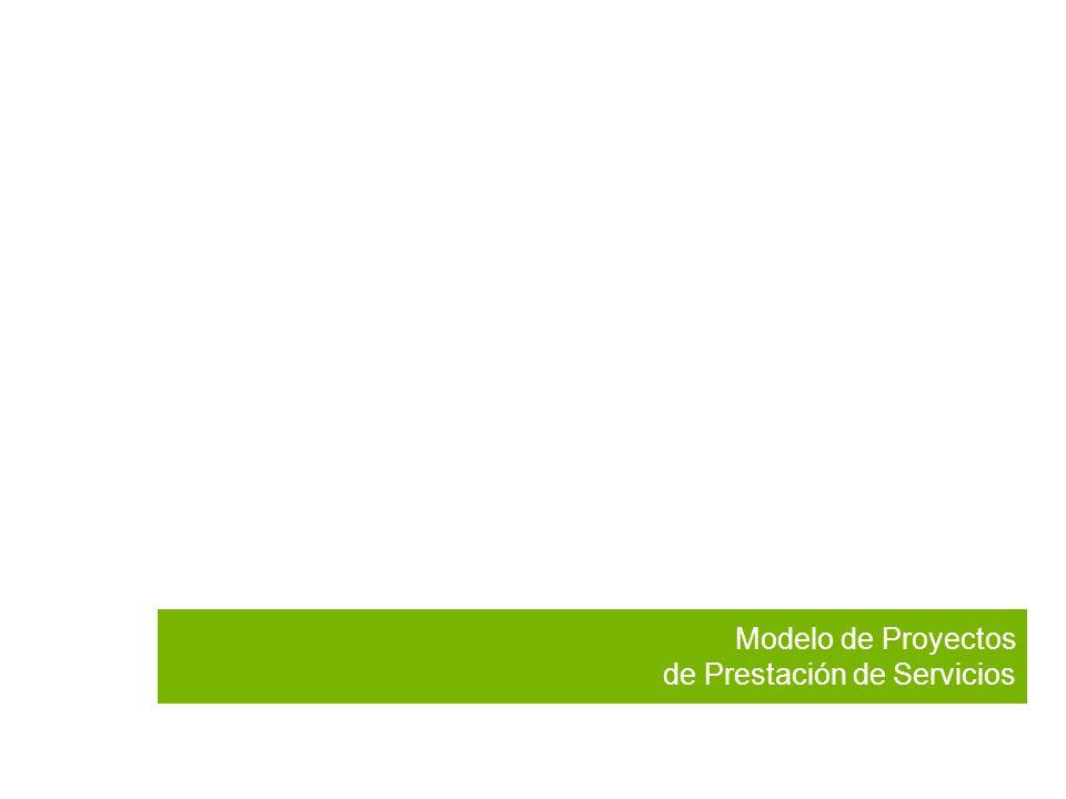 Modelo de Proyectos de Prestación de Servicios