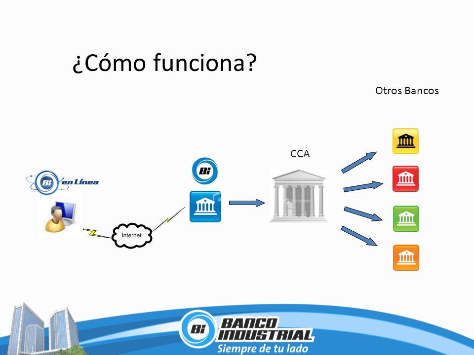 ¿Cómo funciona Otros Bancos CCA