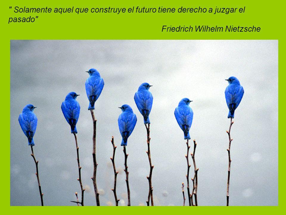 Solamente aquel que construye el futuro tiene derecho a juzgar el pasado Friedrich Wilhelm Nietzsche