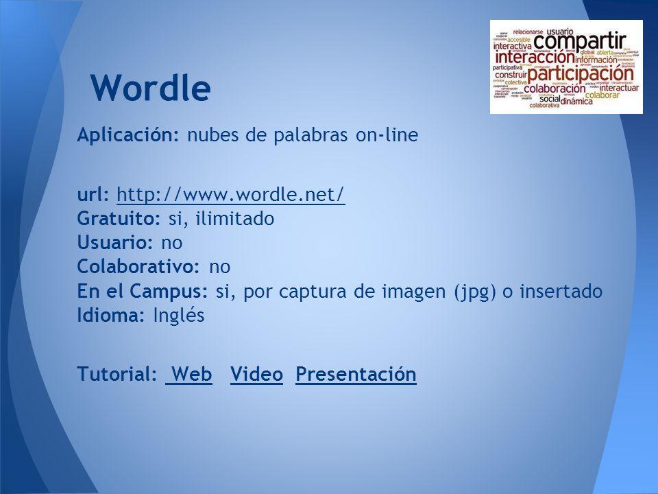 Wordle Aplicación: nubes de palabras on-line