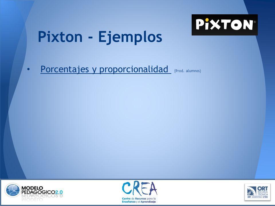 Pixton - Ejemplos Porcentajes y proporcionalidad (Prod. alumnos)