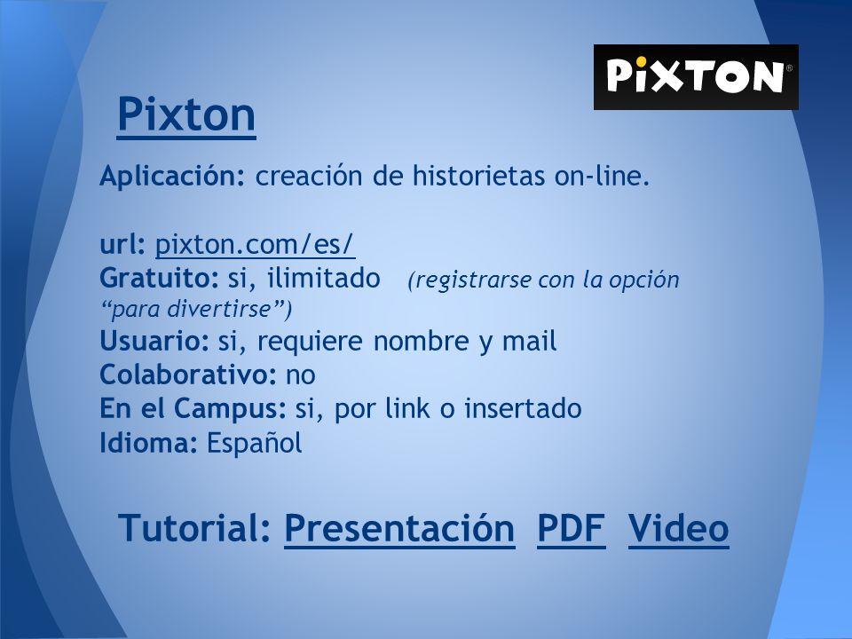 Pixton Tutorial: Presentación PDF Video