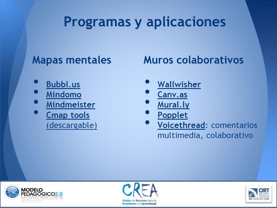 Programas y aplicaciones
