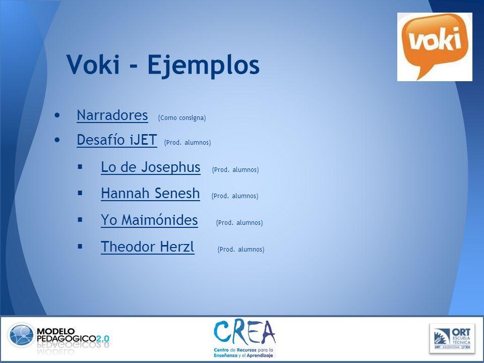 Voki - Ejemplos Narradores (Como consigna)