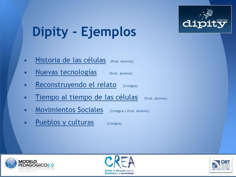 Dipity - Ejemplos Historia de las células (Prod. alumnos)