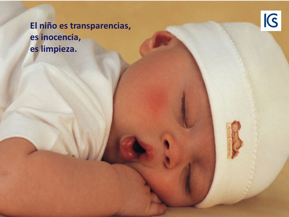 El niño es transparencias,