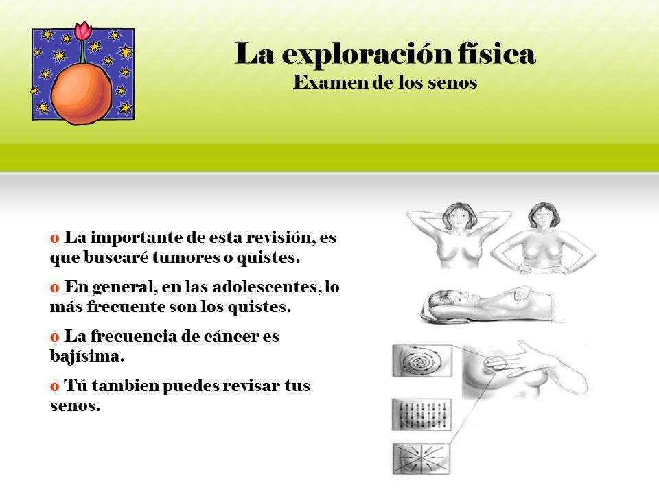 La exploración física Examen de los senos