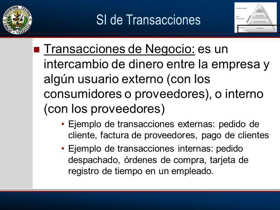 SI de Transacciones