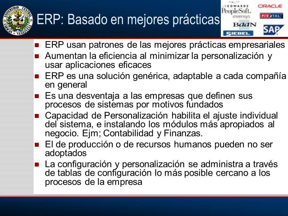 ERP: Basado en mejores prácticas
