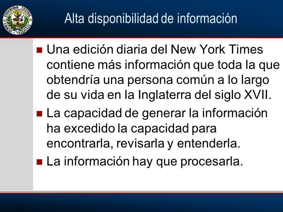 Alta disponibilidad de información