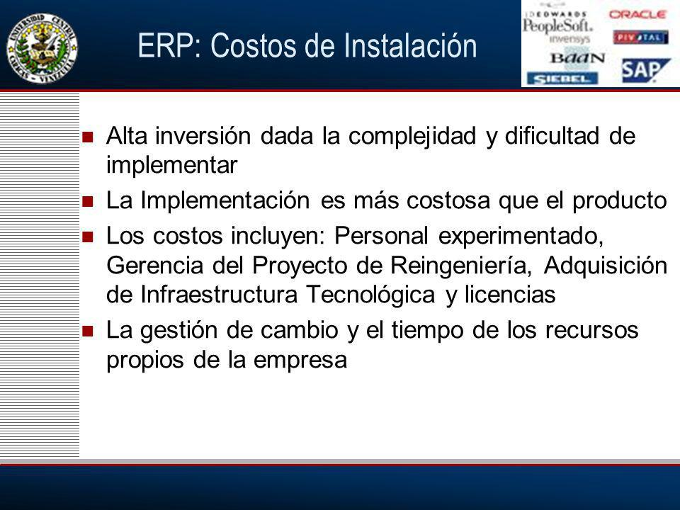 ERP: Costos de Instalación
