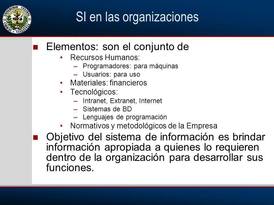 SI en las organizaciones