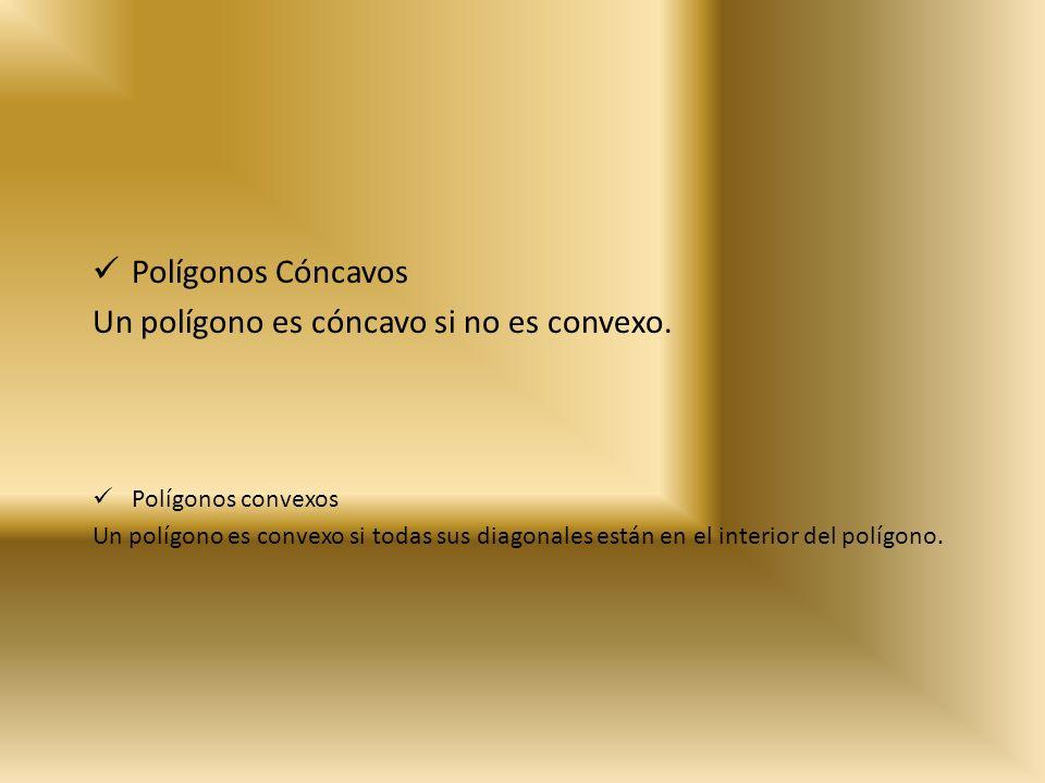 Un polígono es cóncavo si no es convexo.