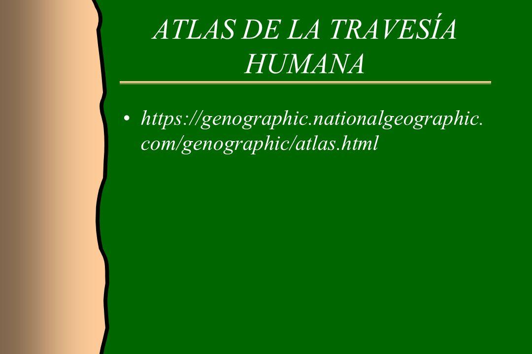 ATLAS DE LA TRAVESÍA HUMANA