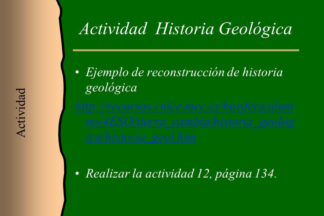 Actividad Historia Geológica