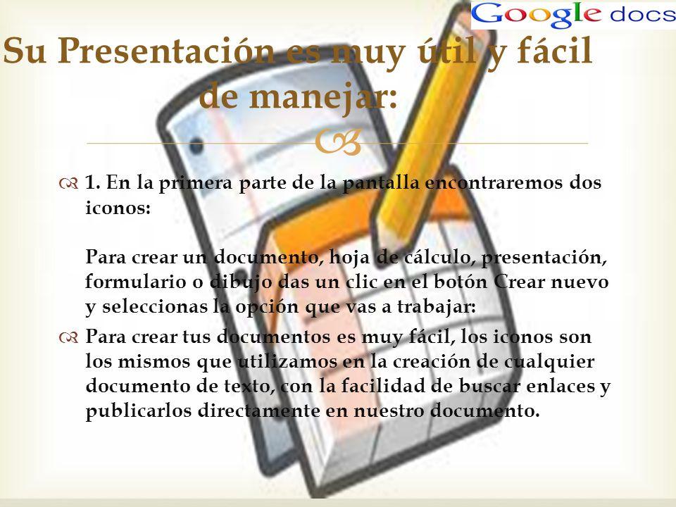 Su Presentación es muy útil y fácil de manejar: