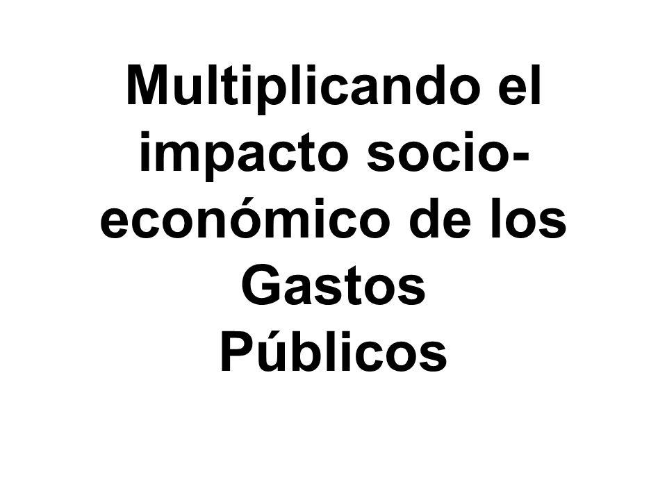 Multiplicando el impacto socio-económico de los Gastos Públicos