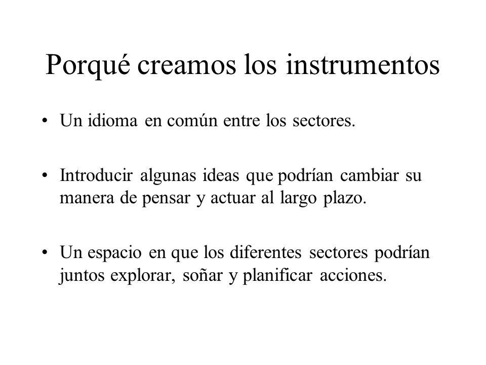 Porqué creamos los instrumentos