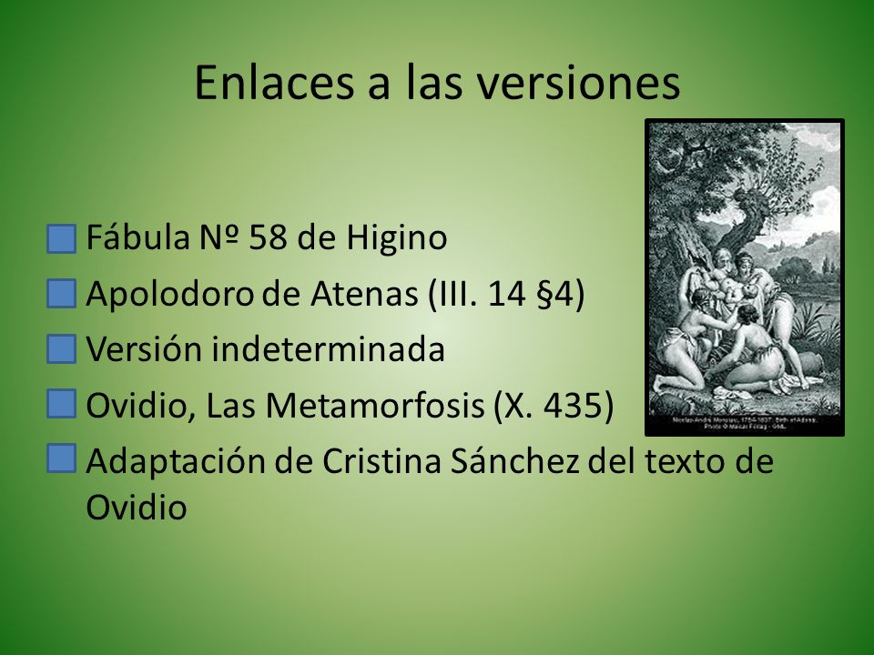 Enlaces a las versiones