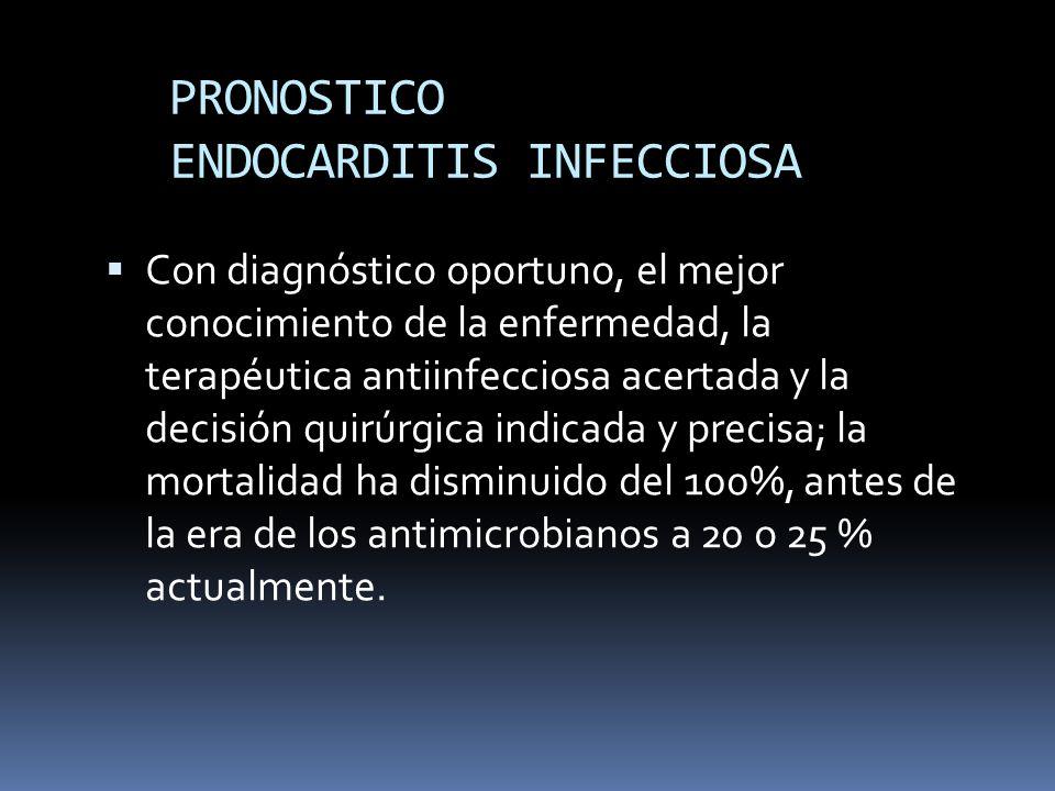 PRONOSTICO ENDOCARDITIS INFECCIOSA