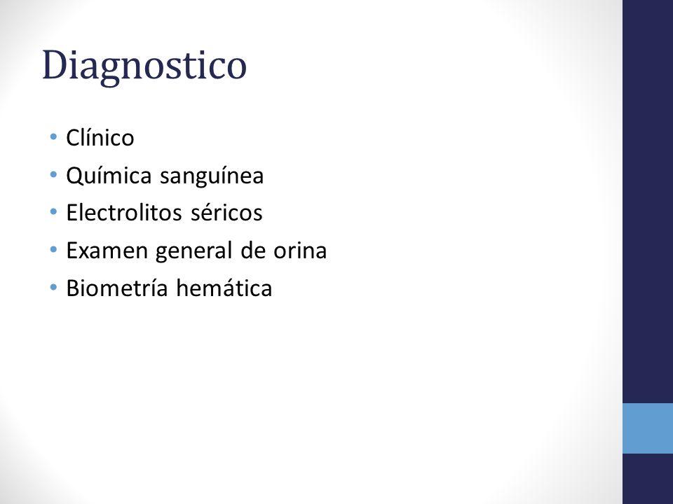 Diagnostico Clínico Química sanguínea Electrolitos séricos