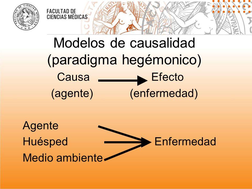 Modelos de causalidad (paradigma hegémonico)
