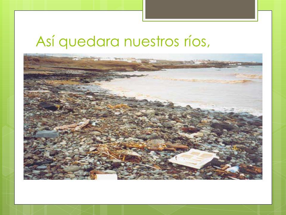 Así quedara nuestros ríos, lagos mar