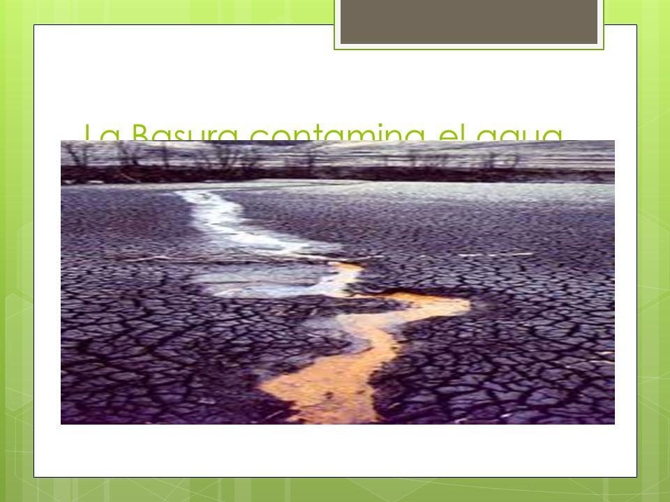 La Basura contamina el agua