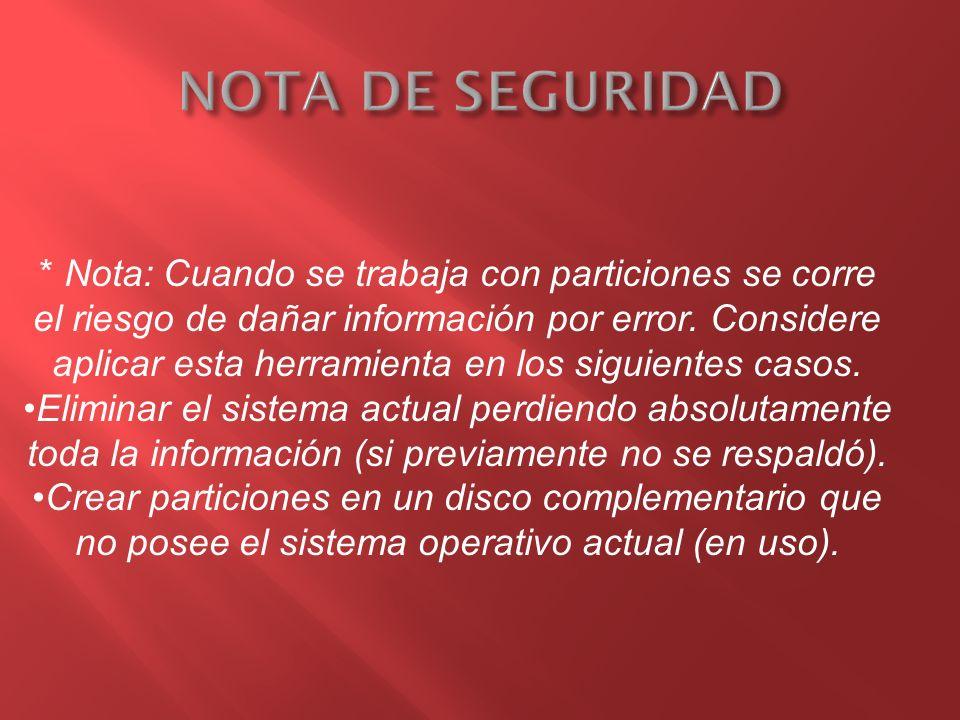 NOTA DE SEGURIDAD