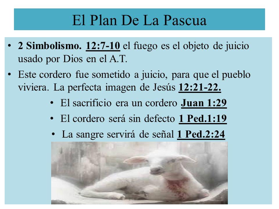 El Plan De La Pascua 2 Simbolismo. 12:7-10 el fuego es el objeto de juicio usado por Dios en el A.T.
