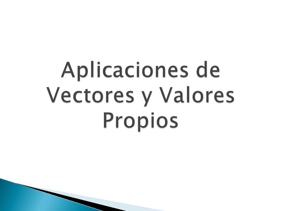Aplicaciones de Vectores y Valores Propios