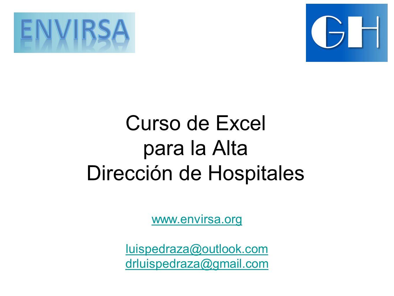 Curso de Excel para la Alta Dirección de Hospitales