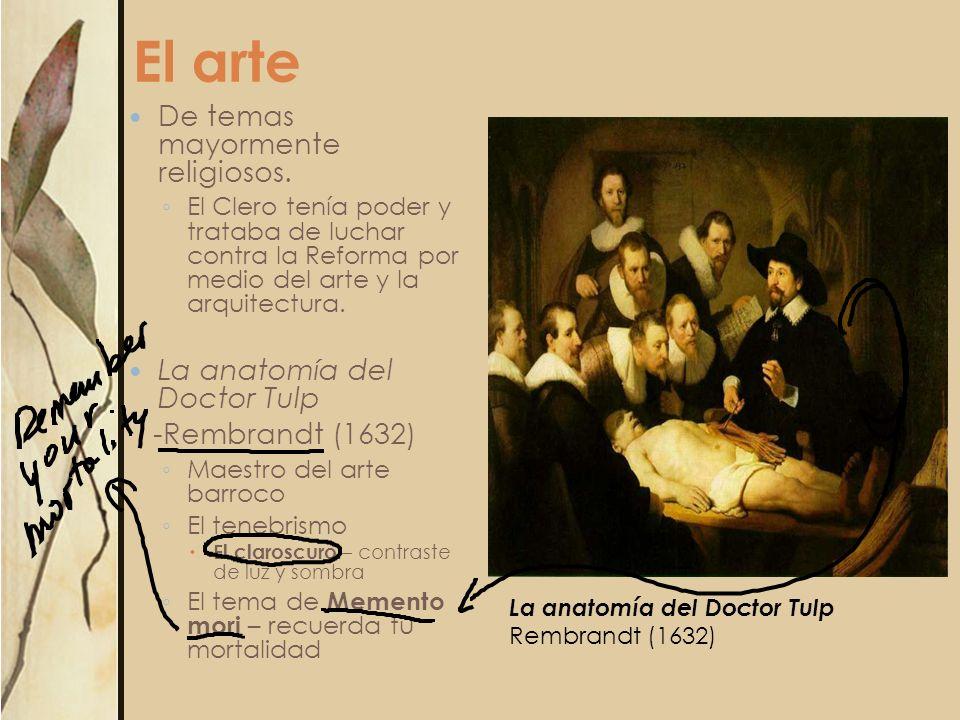 El arte De temas mayormente religiosos. La anatomía del Doctor Tulp
