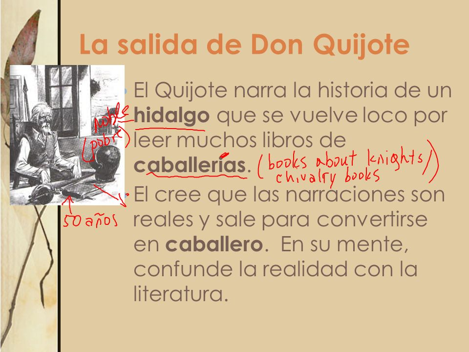 La salida de Don Quijote