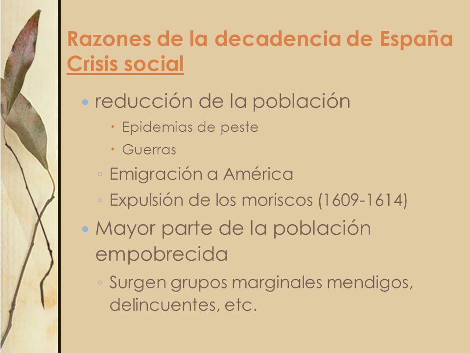 Razones de la decadencia de España Crisis social
