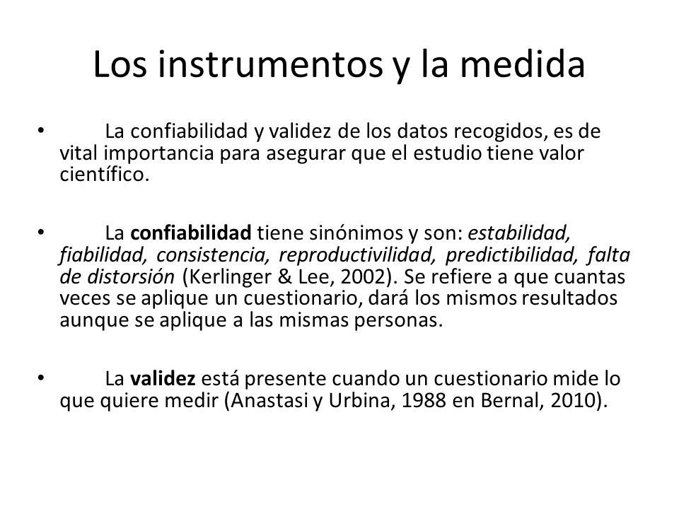 Los instrumentos y la medida