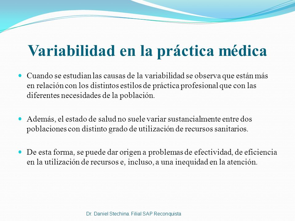 Variabilidad en la práctica médica