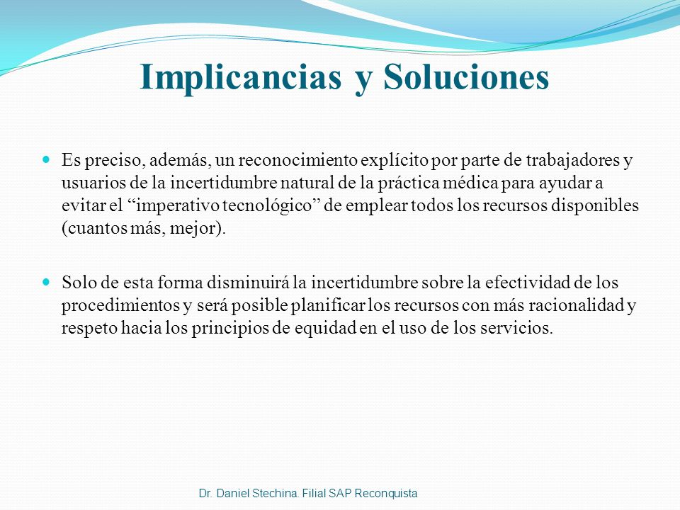 Implicancias y Soluciones