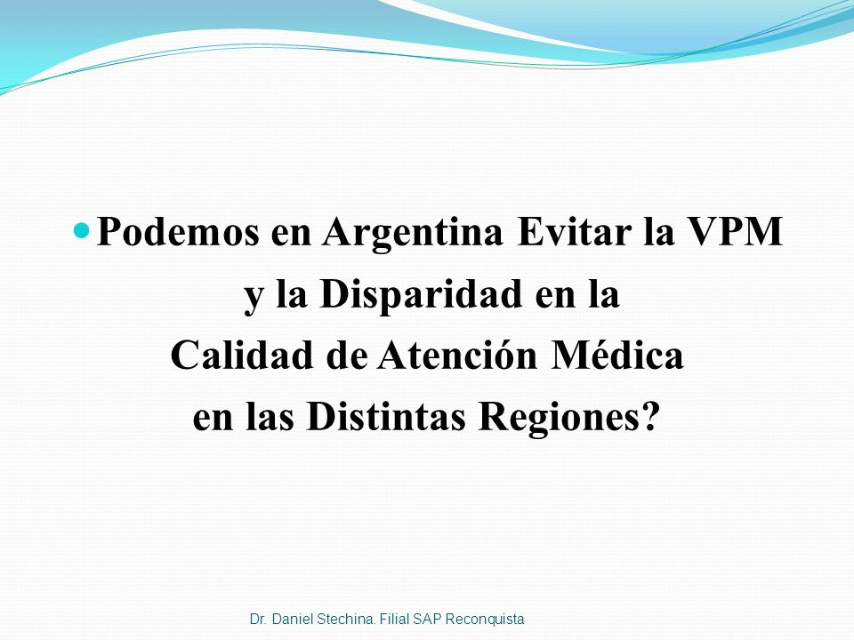 Podemos en Argentina Evitar la VPM y la Disparidad en la