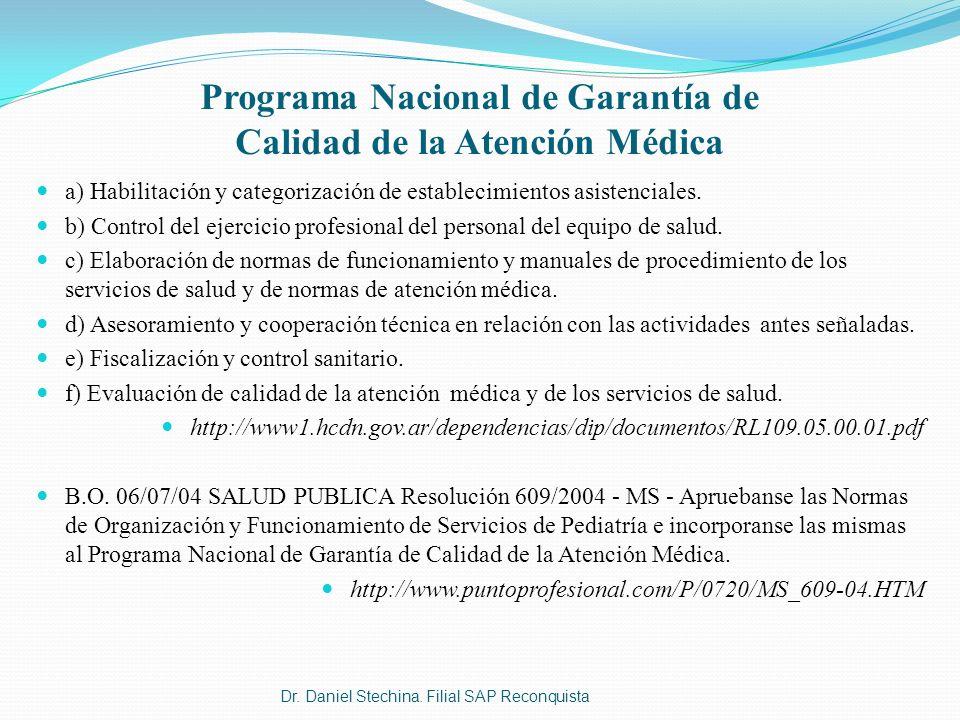 Programa Nacional de Garantía de Calidad de la Atención Médica