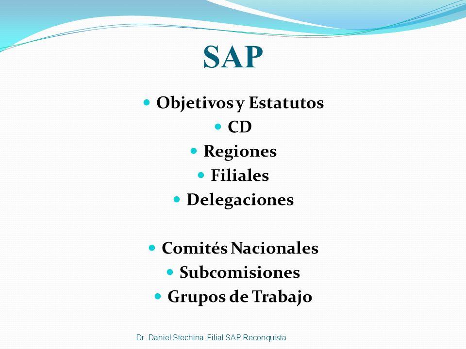 SAP Objetivos y Estatutos CD Regiones Filiales Delegaciones
