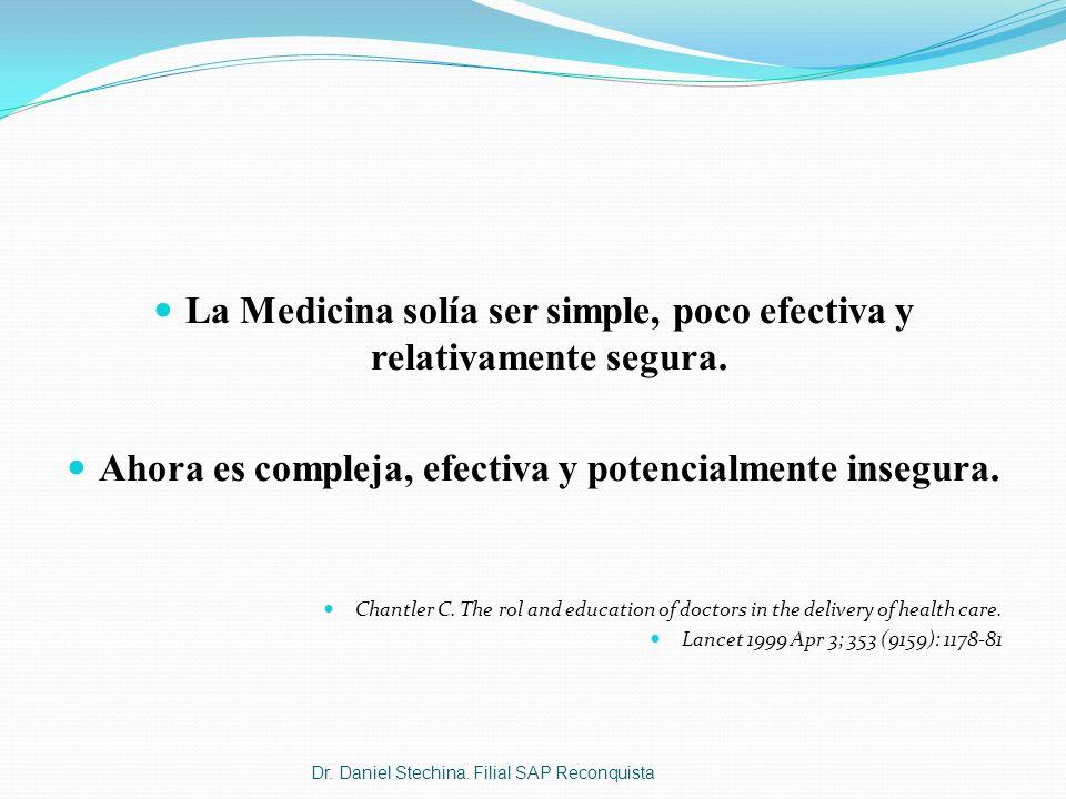 La Medicina solía ser simple, poco efectiva y relativamente segura.