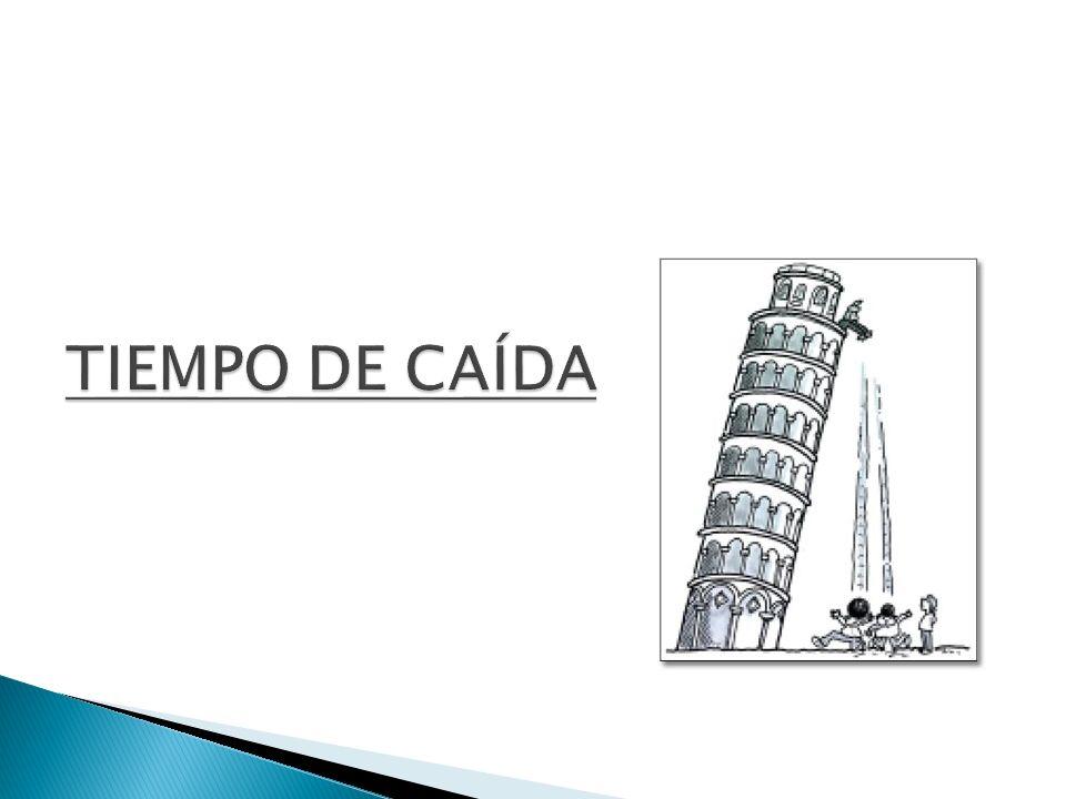 TIEMPO DE CAÍDA