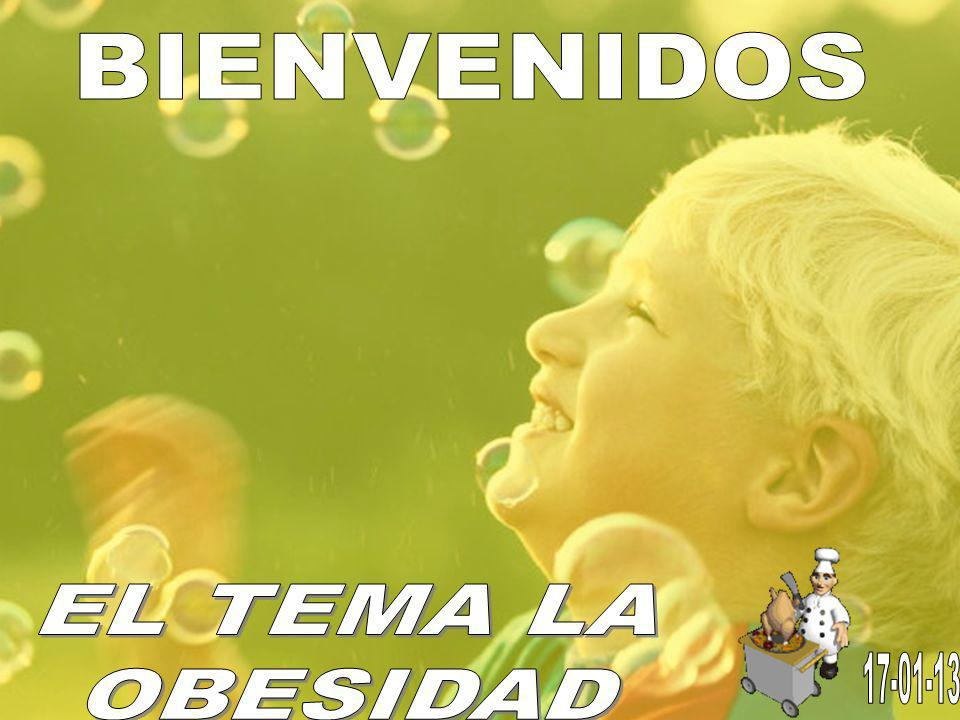 BIENVENIDOS EL TEMA LA OBESIDAD 17-01-13
