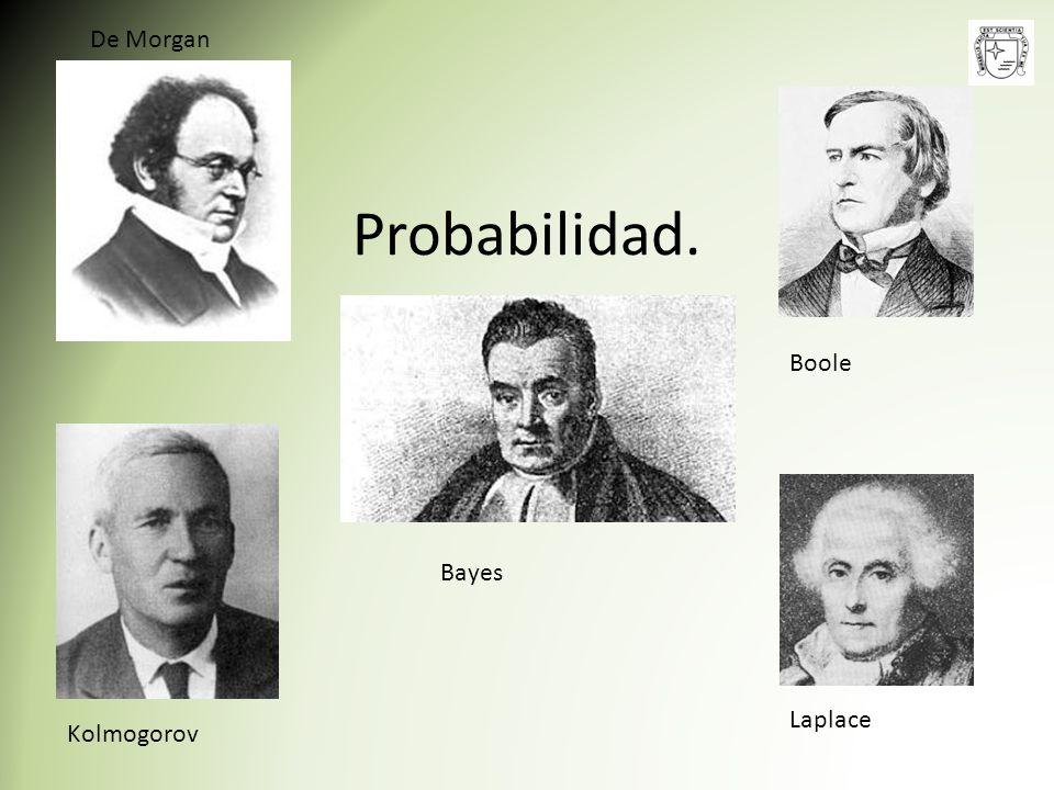 De Morgan Probabilidad. Boole Bayes Laplace Kolmogorov