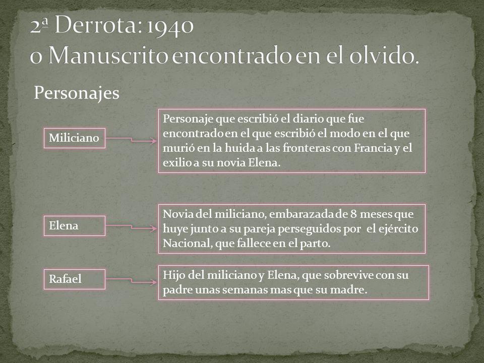 2ª Derrota: 1940 o Manuscrito encontrado en el olvido.