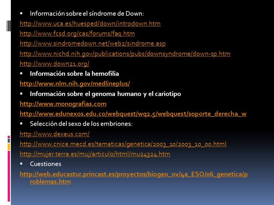Información sobre el síndrome de Down: