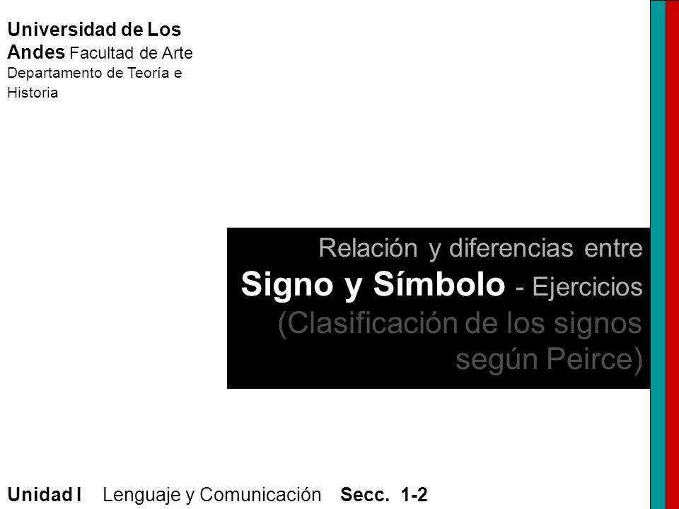 Universidad de Los Andes Facultad de Arte Departamento de Teoría e Historia